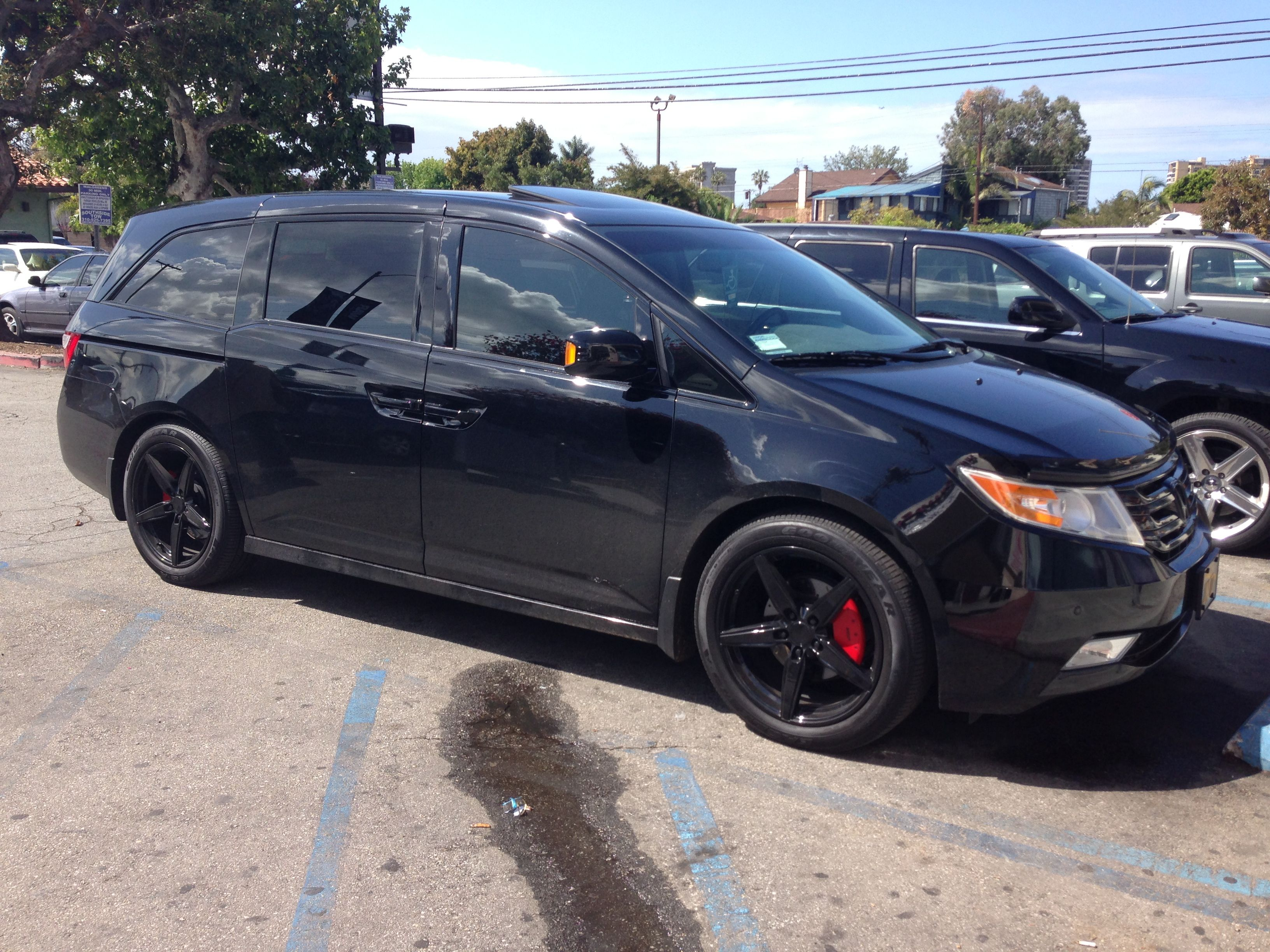 Not a truck but still sweet Murdered out Honda Odyssey