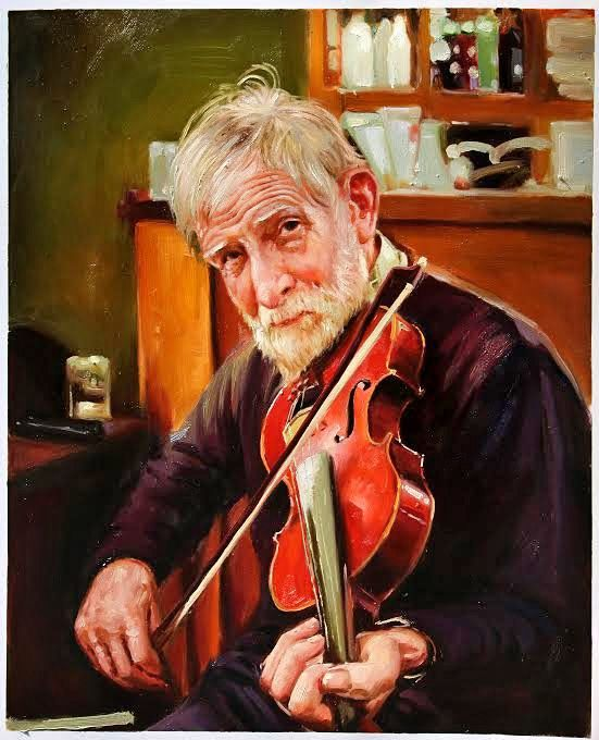 Old Man And Fiddle by Conor Mcguire on ArtClick ie Irish Music Irish