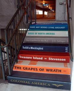What a cool way to display your taste in literature.