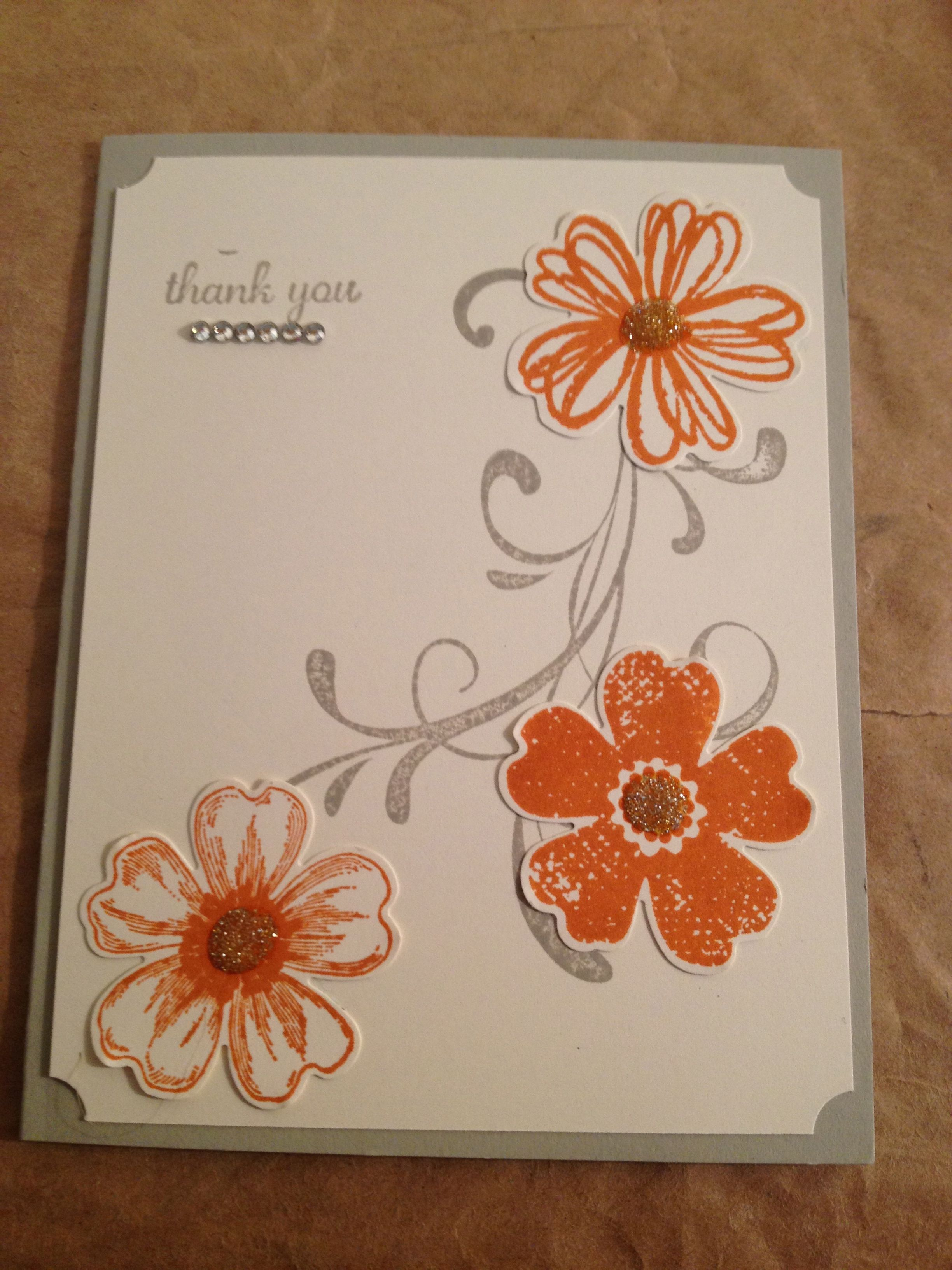 Stampin Up - Thank You - Flower Shop - http://anfletcher.stampinup.net