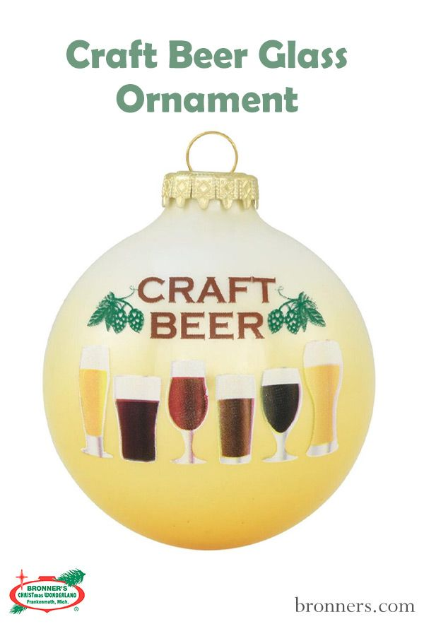 Craft Beer Glass Ornament | Ornaments, Craft beer, Glass ...