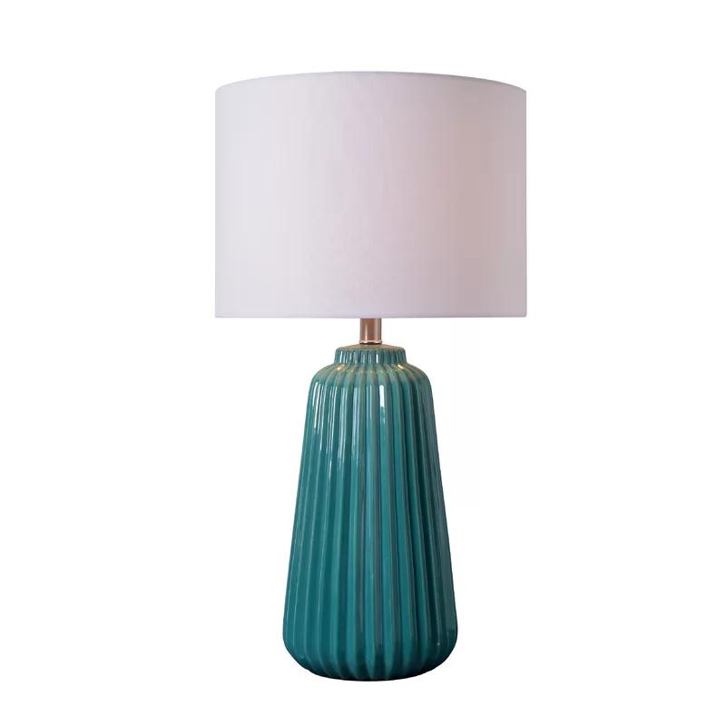 Ivy Bronx Index 27 Table Lamp Reviews Wayfair Teal Table Lamps Table Lamp Vase Table Lamp