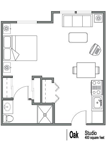 400 Sq Ft Apartment Floor Plan Google Search Tiny House Floor Plans Floor Plans Studio Floor Plans