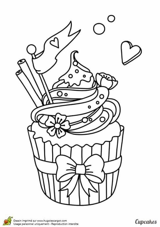 Colorir With Images Cupcake Coloring Pages Coloring Books