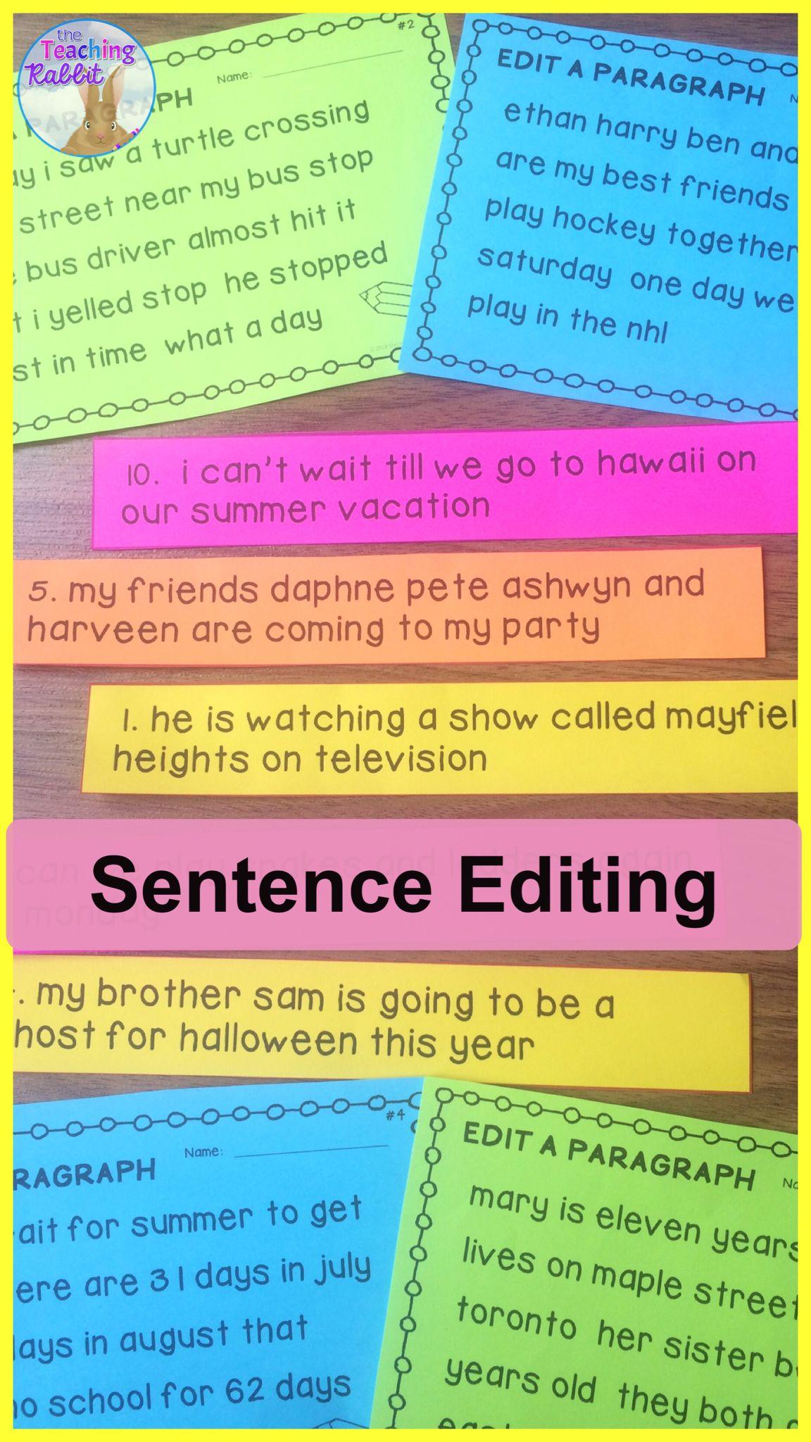 medium resolution of This Sentence Editing pack has worksheets