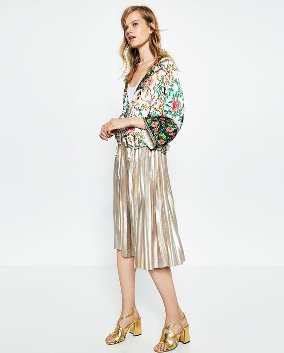 Image 1 Of PRINTED KIMONO From Zara
