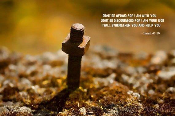 Source of Strength - Inspirational scripture art print #prints #posters #decor #inspiration #words