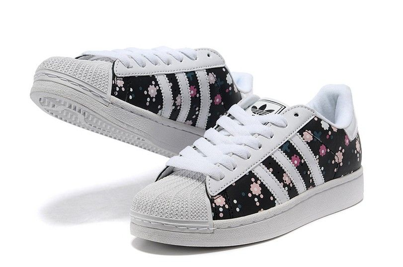 newest c3a5a c6774 Adidas Superstar 2 Womens Casual Shoes G00831 Floral Black White Originals  Trainers