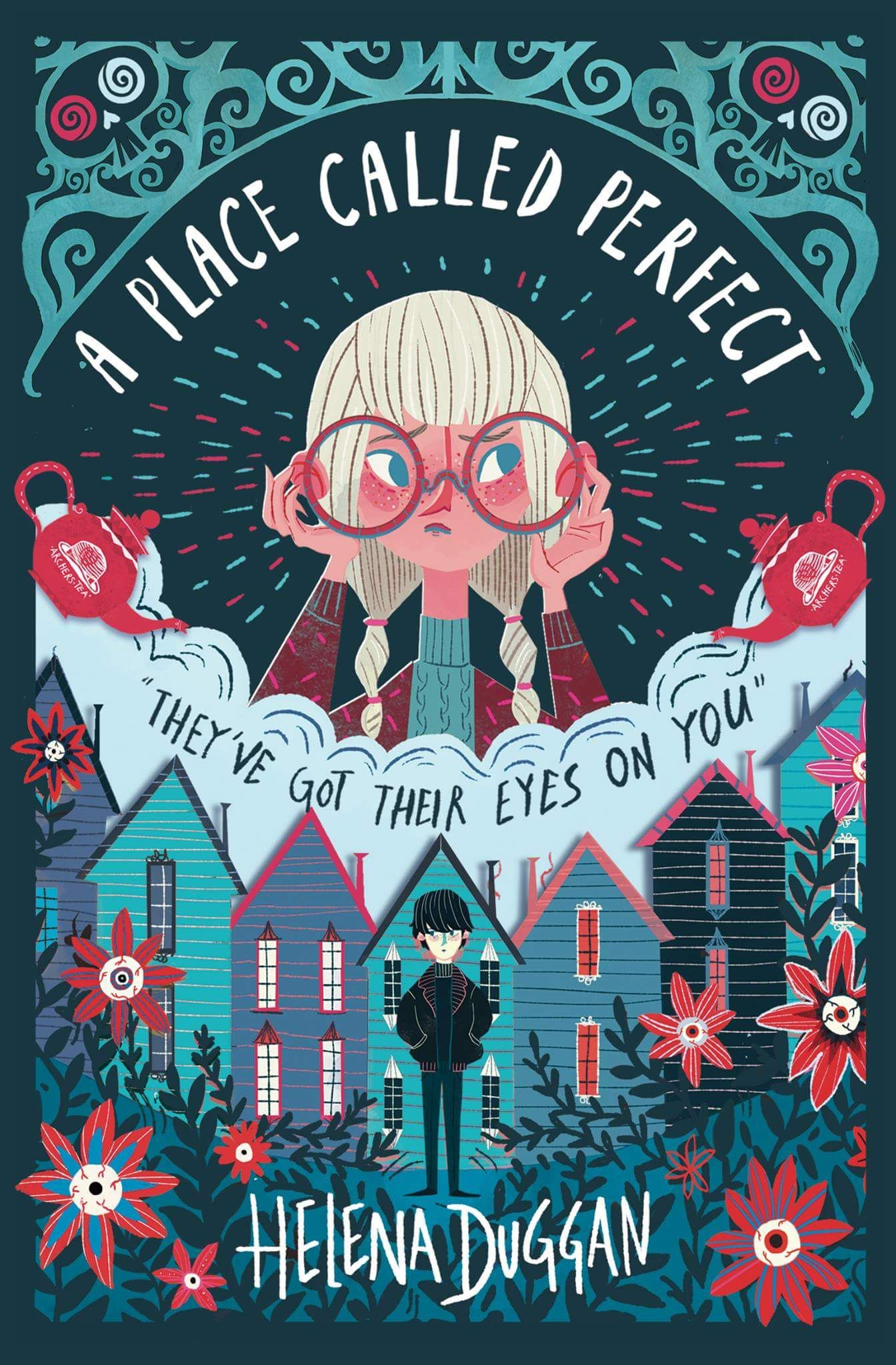 Illustrated Book Cover Ideas : Cover love a place called perfect helena duggan book
