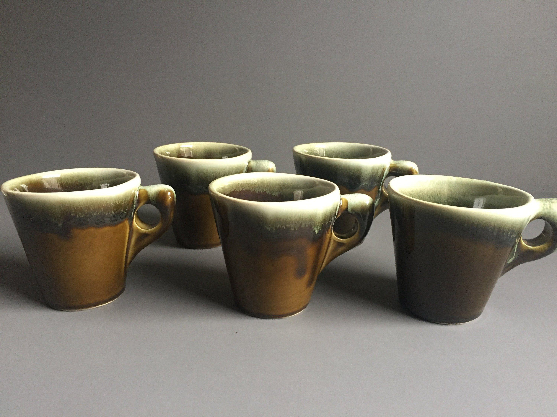 Pfaltzgraff Copper Green Coffee Mugs, Set of 5 by