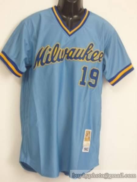 premium selection e58a0 14dbc C196c Bf052 Milwaukee Jersey Spain Throwback Brewers lacquer ...