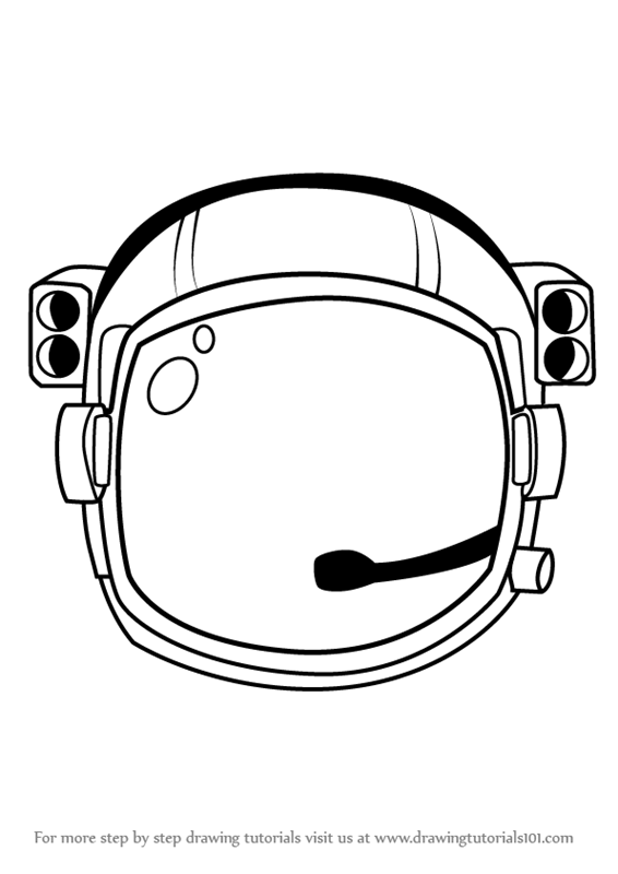 Learn How To Draw An Astronaut S Helmet Tools Step By Step Drawing Tutorials Astronaut Helmet Helmet Drawing Astronaut Drawing