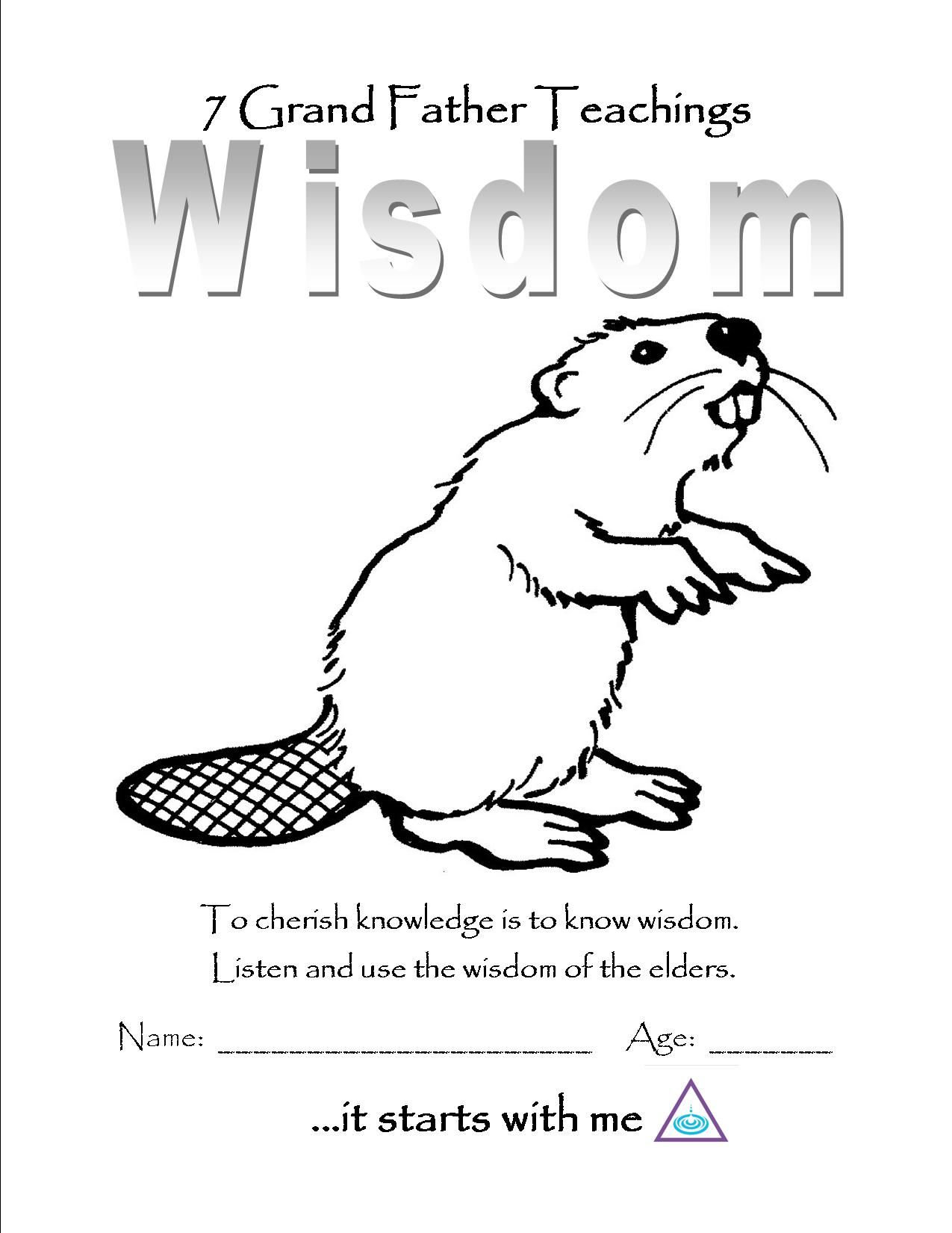 Coloring pages 7 continents - Wisdom Color Page