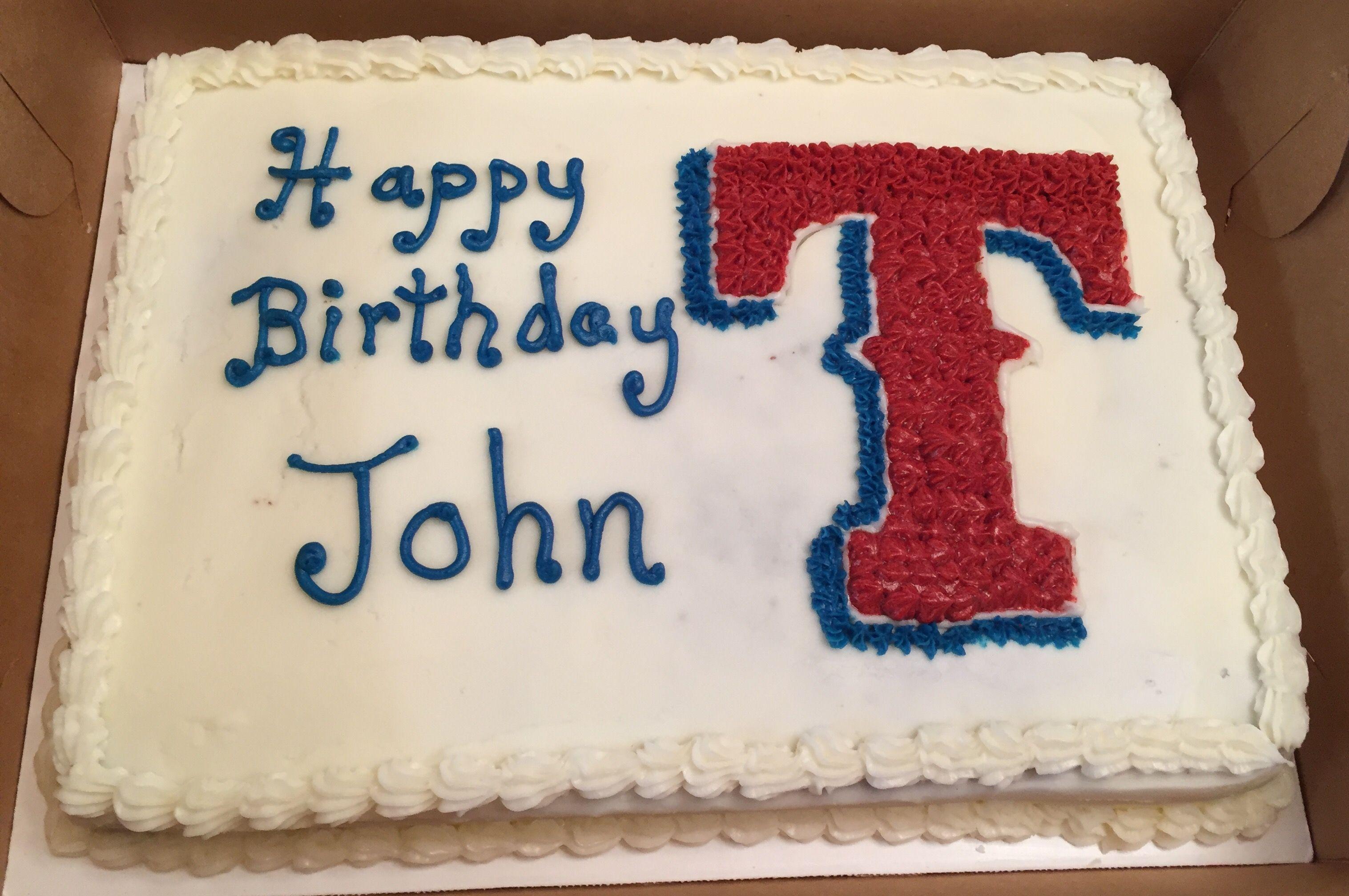 Texas Rangers Birthday Cake Cake Princess Cupcakes Round Cakes