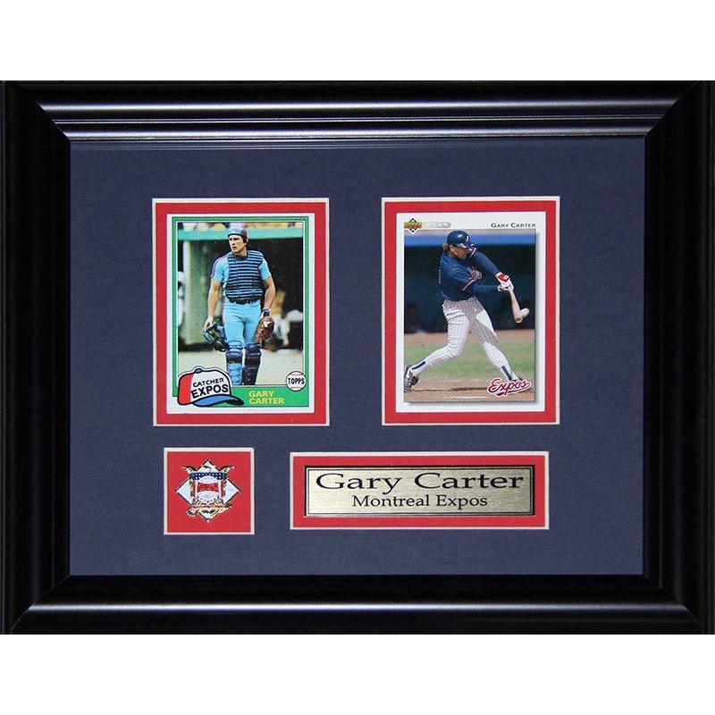 Midway Gary Carter Montreal Expos Mlb Baseball 2-card Frame   Expos ...