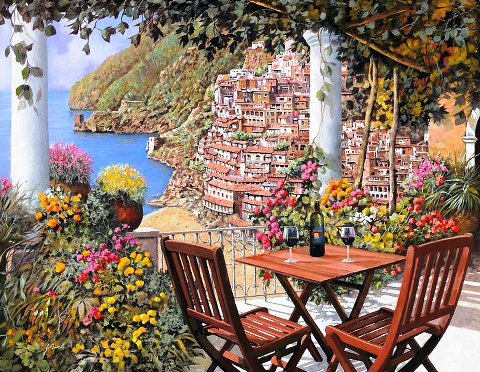 Pintura y fotograf a art stica ver im genes de cuadros for Jardines italianos