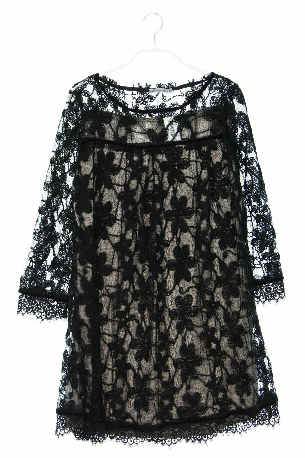 made in italy strick-kleid strick 7/8-Ärmel damen d 38 dress
