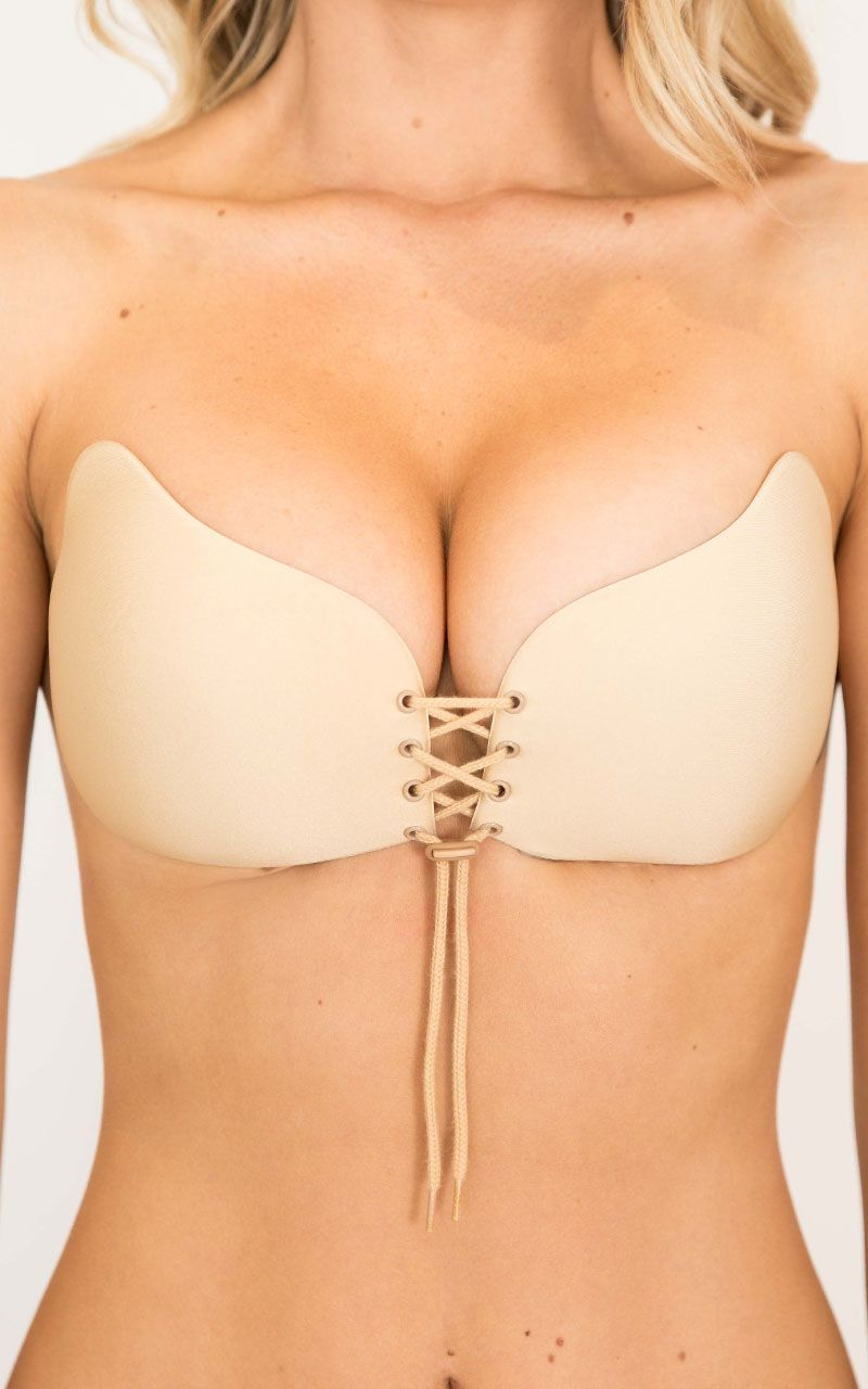 d99d4e80bd The Push Up Stick On Bra from Showpo gives you that extra lift! Completely  adjustable   features a lace up front. Spend  50 for FREE Express Shipping!