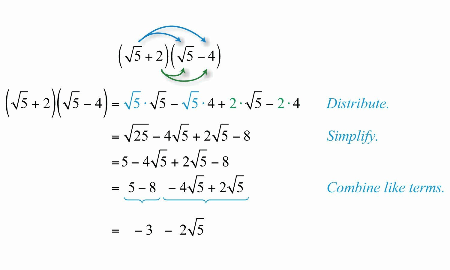 50 Multiply Radical Expressions Worksheet In