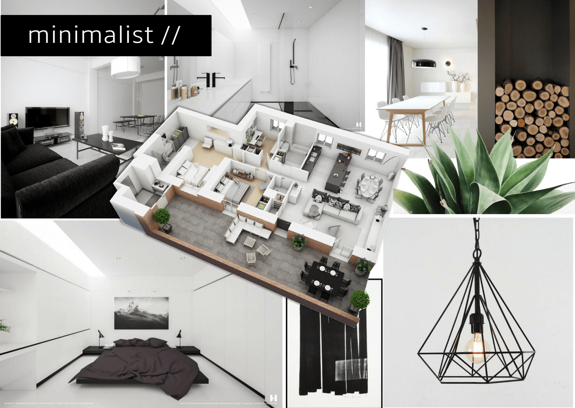 Minimalist Interior Design Moodboard Ebene villa