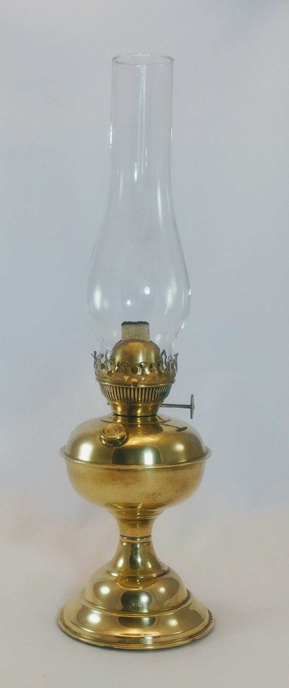 India Brass Antique Brass Oil Lamp Hurricane Oil Lamp