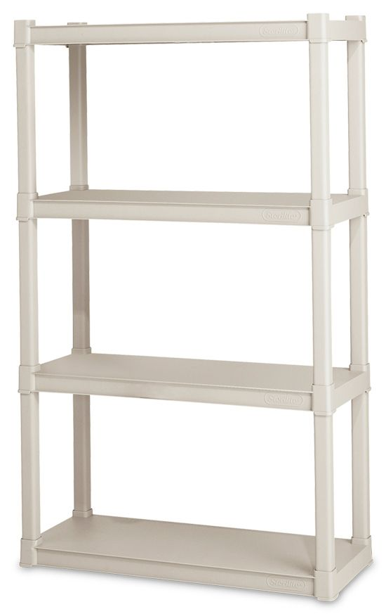 Sterilite 0164 4 Shelf Shelving Unit Plastic Shelving Units Shelves Storage Shelves