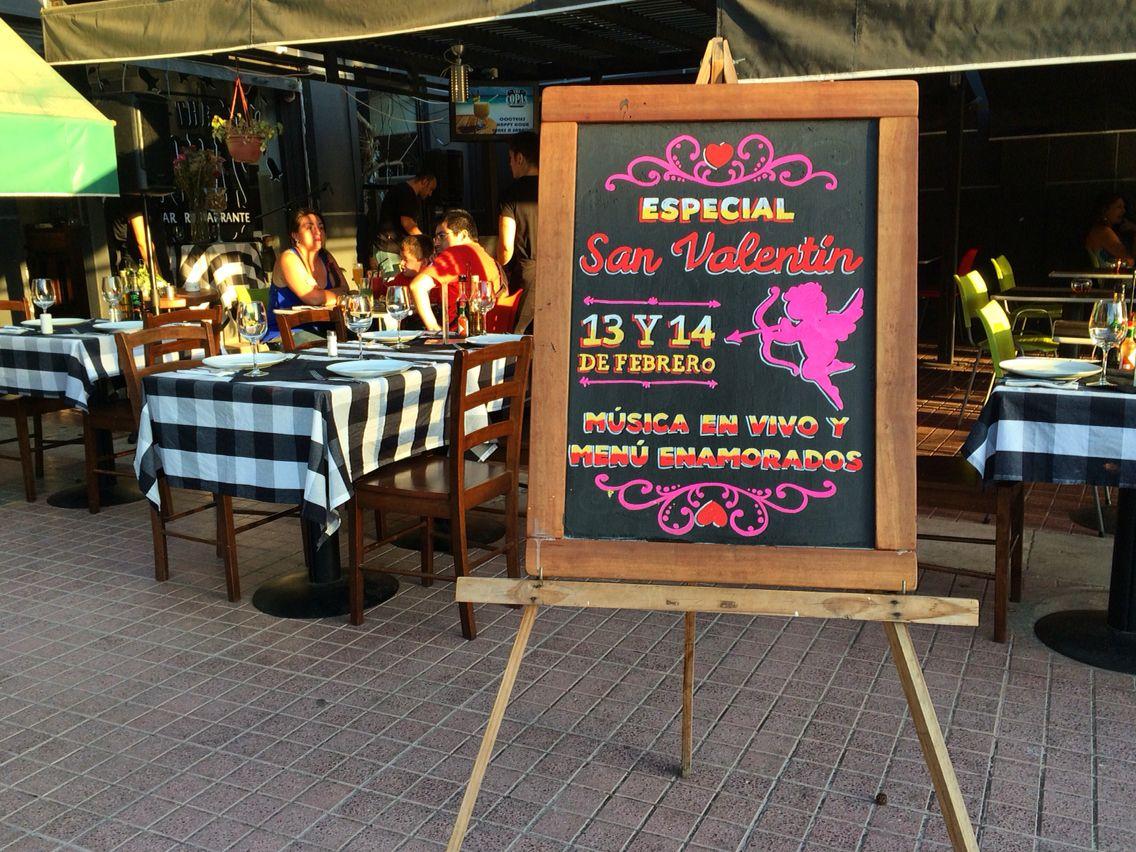 Pizarra especial san valent n para the copas bar - Pizarras de bar ...