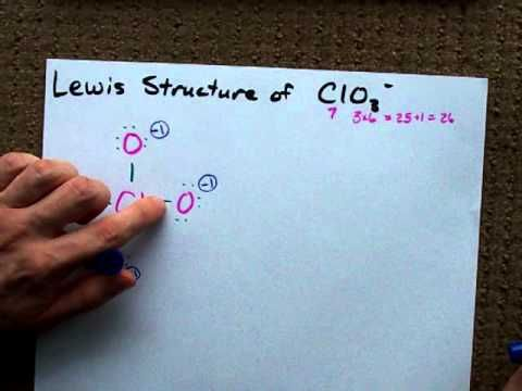 lewis structure of clo3 (chlorate anion) youtube study  lewis diagram clo31 #9