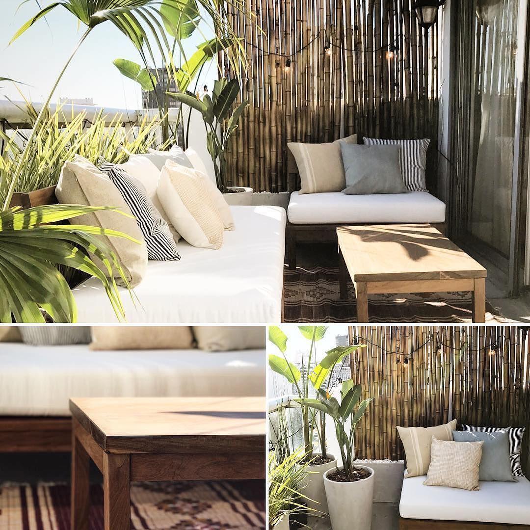 El Balc N Terraza Qued Incre Ble Bambu Decoracion Octubre  ~ Cañas De Bambu Verdes Para Decorar