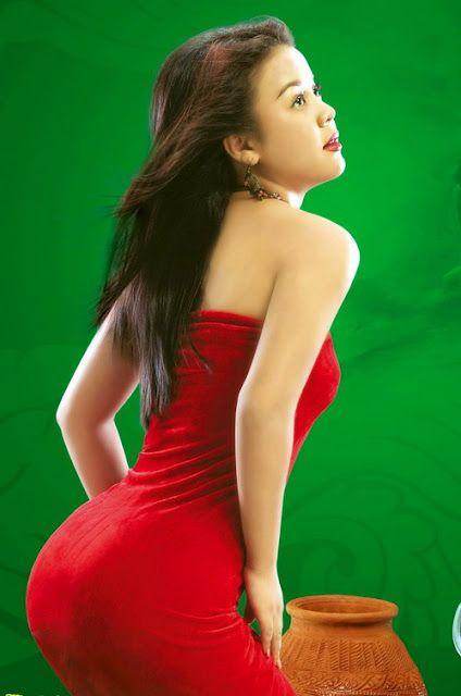 Myanmar Sexy Model Girls With Myanmar Traditional Longyi Myanmar Model Girl