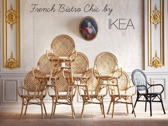 French Bistro Chair Uteplats Inredning Ikea Inredning