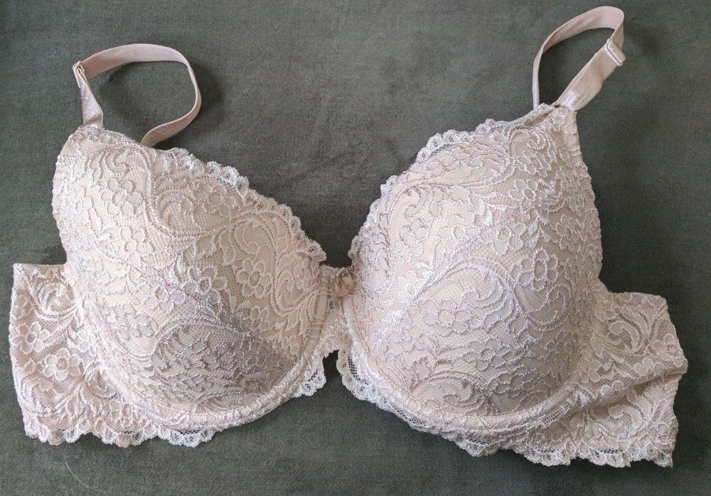 4c0c994843 Women s Bra Size 42D Full Coverage Push Up Underwire Beige W  Floral  Pattern  SmartSexy  FullCoverageBras