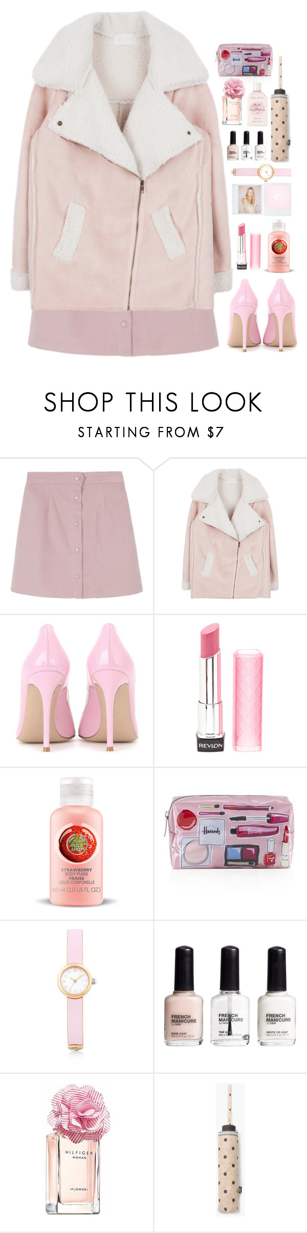 """""""▐ #22▐"""" by songjieun ❤ liked on Polyvore featuring Gianvito Rossi, Revlon, Harrods, Henri Bendel, H&M, Tommy Hilfiger, MANGO and Crabtree & Evelyn"""