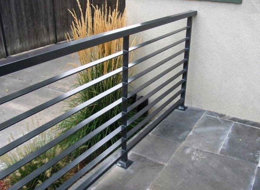 Modern Wrought Iron Railing With Images Interior Railings