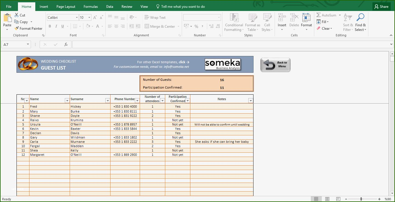 Perfect Wedding Checklist Template Excel that Prove Your
