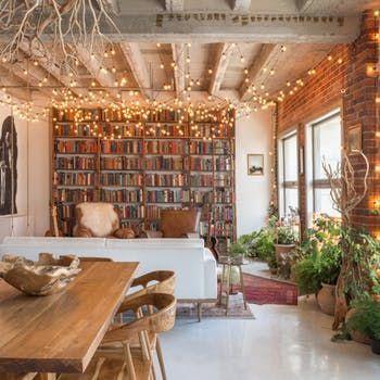 An Artsy Downtown Loft in LA Bursting with Books #rusticmoderndecor