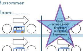 Gratis download: Invulbaar werkblad bussommen. Helemaal zelf aan te passen!