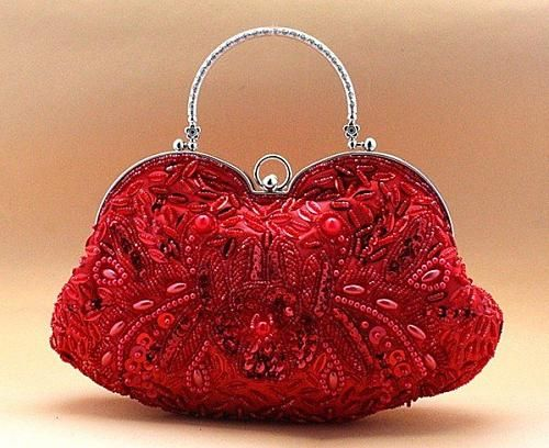 Bridal clutch purse-woman-evening-bag-embroidery