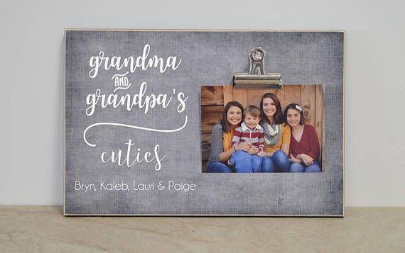 Grandparent Photo Frame, Grandchildren Frame, Personalized Picture Frame Gift For Grandma & Grandpa, #grandparentphoto