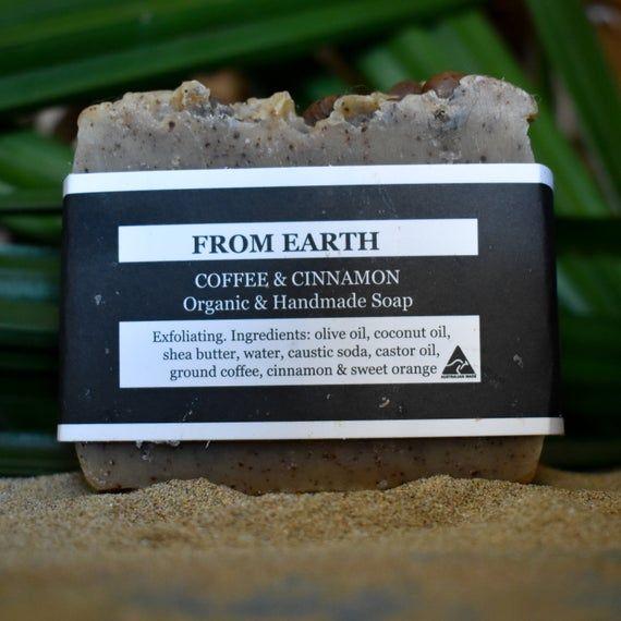 Organic Coffee Soap, Coffee & Cinnamon Soap, Organic Cinnamon Soap, Handmade Soap, Australian Made C