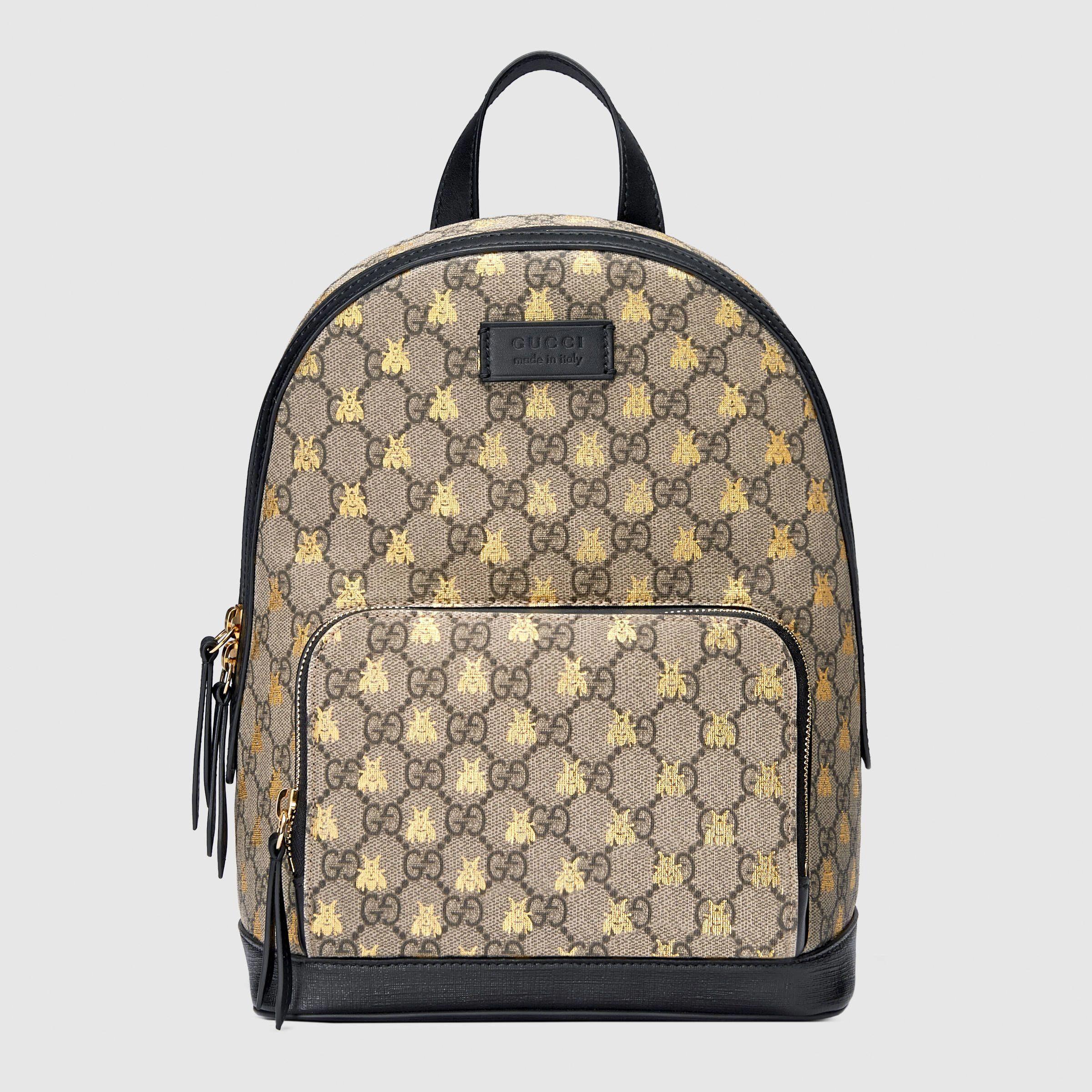2b9246792fe4 GG Supreme bees backpack  Guccihandbags