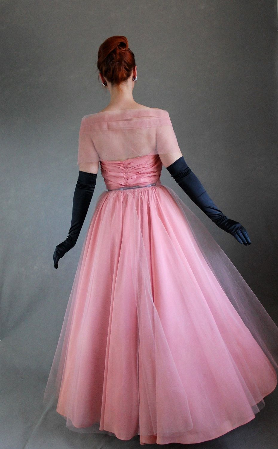 Sale 1950s Pink Party Prom Dress Mad Men Fashion Evening Etsy 50s Formal Dress Pink Party Dresses Dresses [ 1500 x 930 Pixel ]