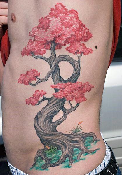 60 Bonsai Tree Tattoo Designs For Men Zen Ink Ideas Bonsai Tree Tattoos Tree Tattoo Men Cherry Tree Tattoos