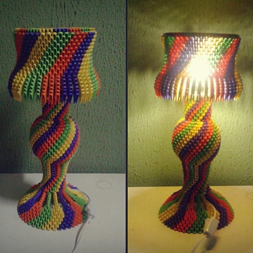 Origami Lampenschirm Modular Origami 3d Origami Origami Lamp