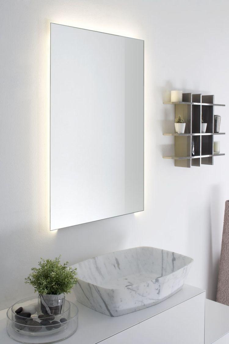 11 Badezimmer Spiegel Mit Beleuchtung In Tollen Bildern Badezimmer Eintagamsee Contemporary Wall Lights Bathroom Lighting Glass Bathroom