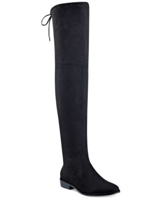 5bcf9d1745cb Marc Fisher tempers the stunning silhouette of these Humor over-the-knee  boots…