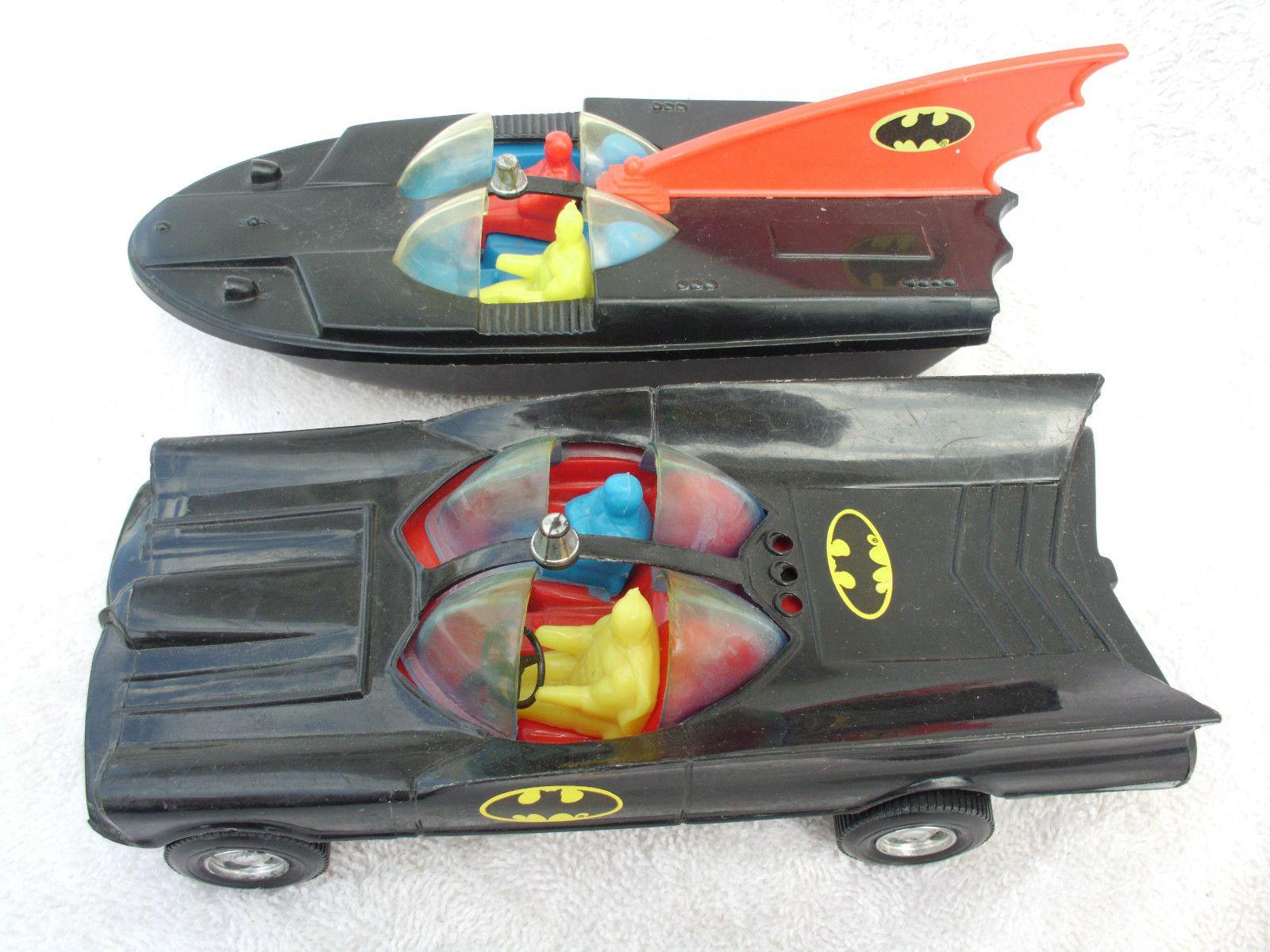 1970 S Toys : Old vintage s batman toy batmobile batboat
