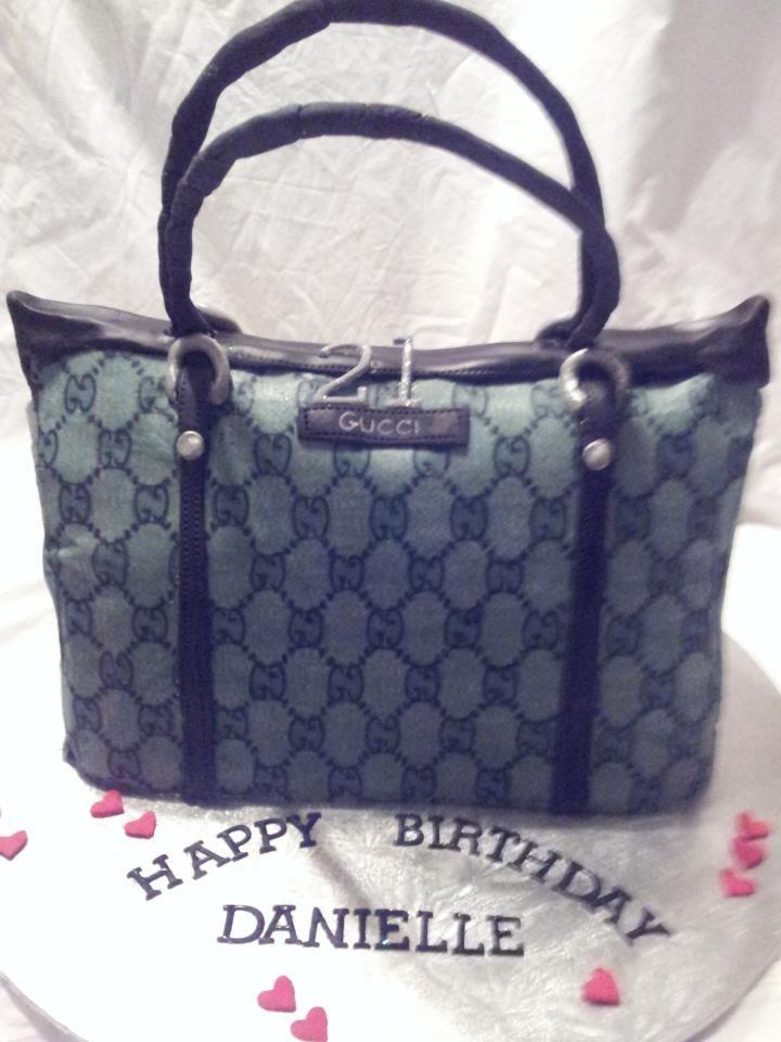 designer bag cake