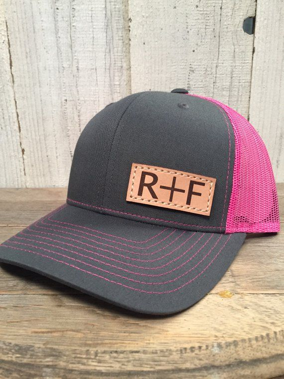 YOU + ME Custom Hat with Initials, Richardson 112 Leather