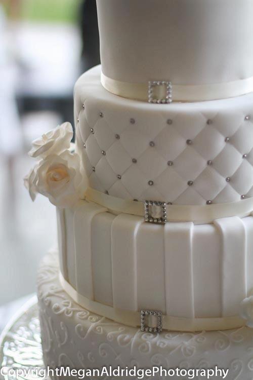 White quilted wedding cake detail. By Megan Aldridge ...